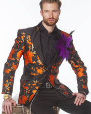 Prom Blazer - Tuxedo - Celleb Orange -Prom Tuxedo - Mens - Fashion - ANGELINO