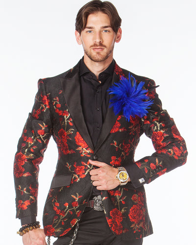 Prom Blazer - Prom Tuxedo - Celleb Red - Prom 2020 - ANGELINO