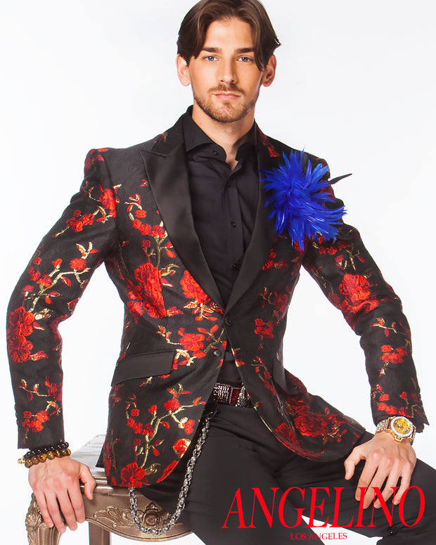 Prom Blazer - Prom Tuxedo - Celleb Red - Prom 2021 - ANGELINO
