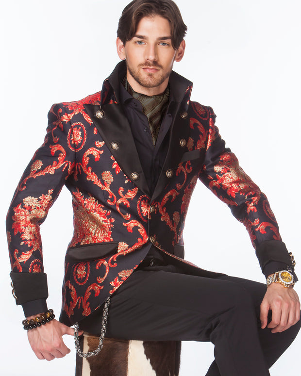 Prom Blazer - Prom tuxedo 2020 - Lord V. Red - Semi Long Blazer - ANGELINO