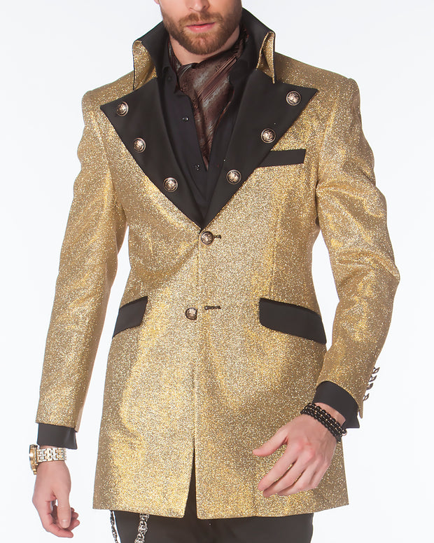 Prom Blazer - Prom 2020 - Long Cello Gold - Tuxedo - 2020 - ANGELINO