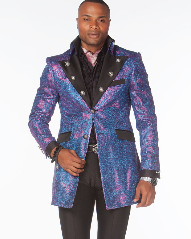 Prom Blazer - Prom 2020 - Long Cello Purple - ANGELINO