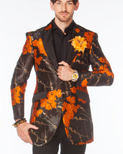 Long Coat Men- Orange - Long Blazer - ANGElino