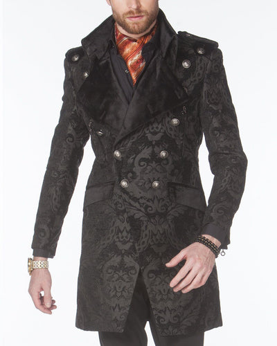 Men's Fashion Jacket - Majesty Black/Black - Stylish - Coat - Long - ANGELINO