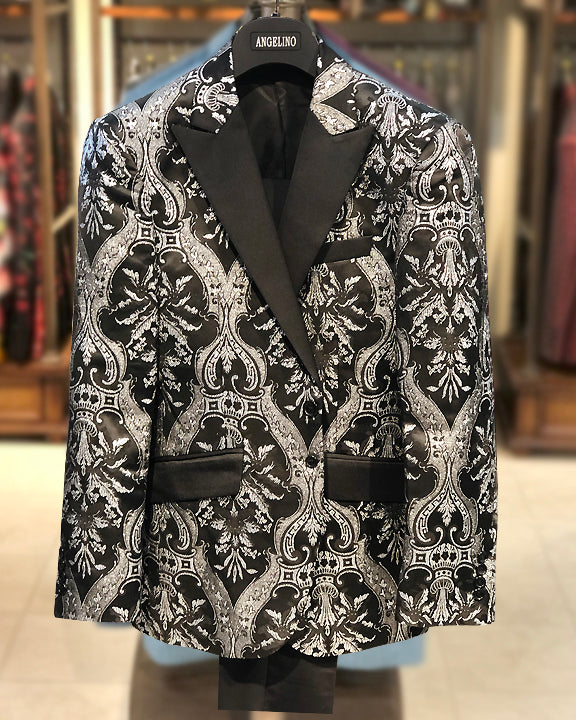 Prom Suits Silver, Victorian Jacket - Prom - suit -2020 - ANGELINO