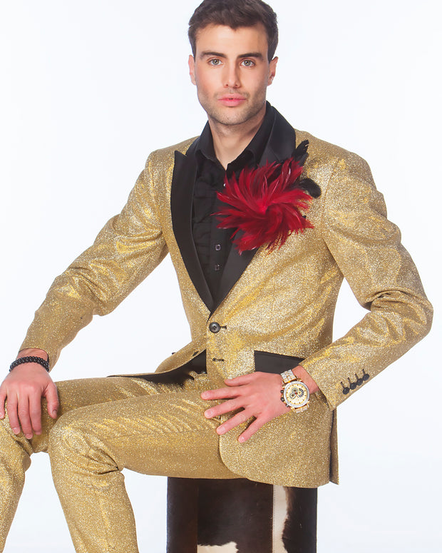 Prom Suit - Cello Gold - Gold Prom Suit - 2020 - Fashion - ANGELINO