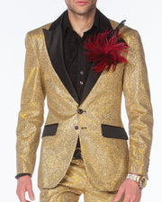 Prom Suit - Cello Gold - Gold Prom Suit - Prom 2020 - ANGELINO