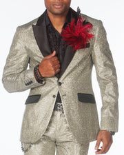 Prom Suit - Cello Silver - Silver Prom Suit - Prom 2020 - ANGELINO