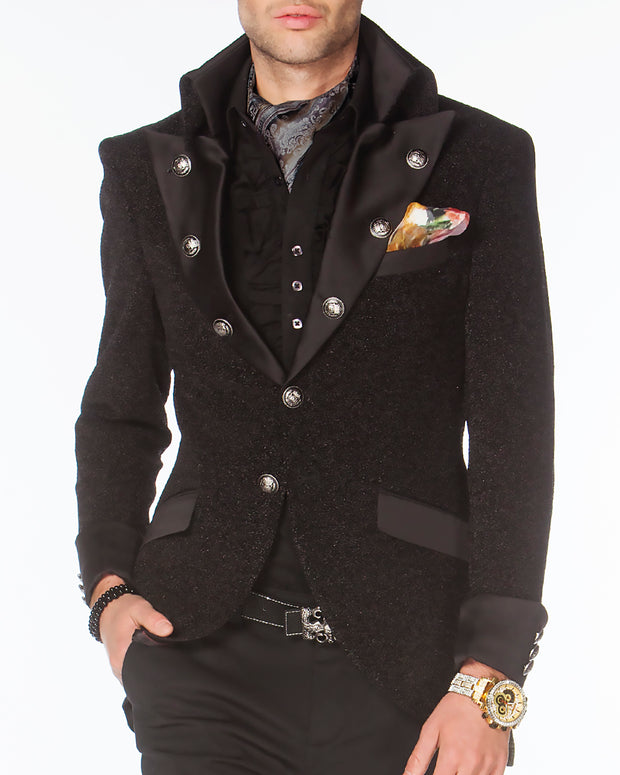 Prom Blazer - Prom 2021 - Lord Black - Semi Long Blazer - ANGELINO