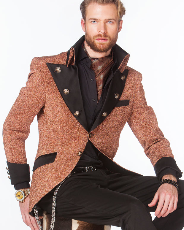 Prom Blazer - Prom Tuxedo - Lord Rose Gold - Semi Long Jacket - ANGELINO