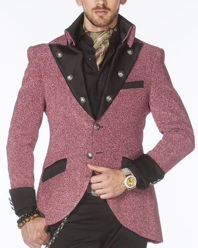 Prom Blazer, Prom Tuxedo 2021 - Lord Pink - Semi Long Blazer - ANGELINO