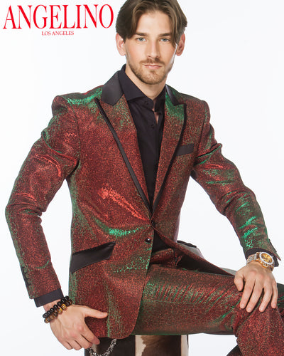Prom Suit - Lucio Red - Red Prom Suit - Prom - 2020 - Suits - ANGELINO