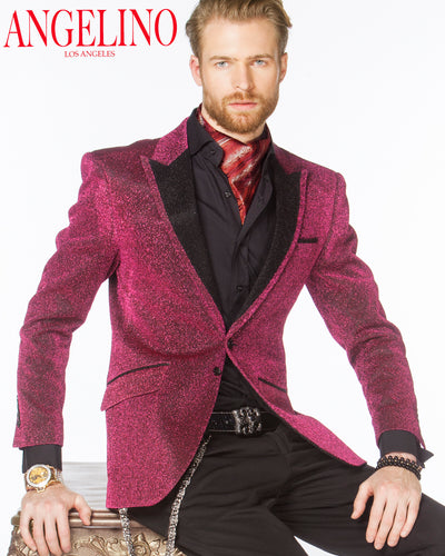 Prom Blazer - Lurex Pink - prom - Wedding - ANGELINO