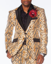Prom Suit, Sequin Suit, covered with Animal Print , Prom Suit 2020