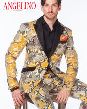 Prom Suits 2020, Sequin Suit, Animal Printed fabric covered with clear sequins - 2