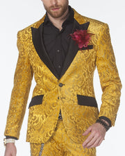 Tuxedo for men - Mens  Gold Suit  - ANGELINO