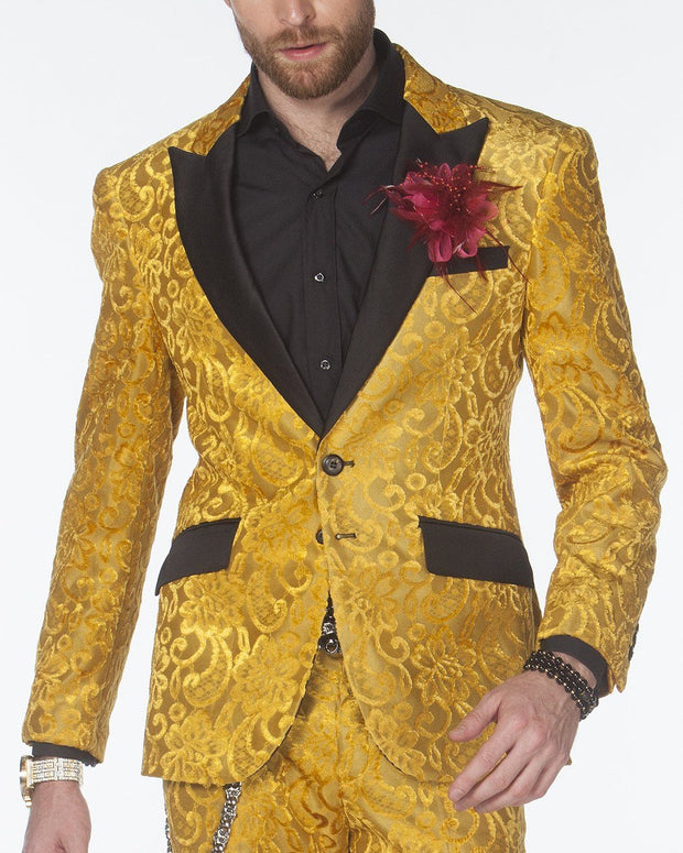Tuxedo for men, New Salsa Gold - Stylish - Mens - Suits                                                                     - Prom - Wedding - Tuxedo - ANGELINO