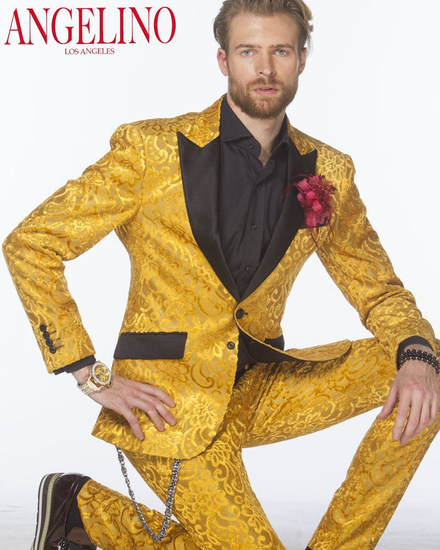 Tuxedo for men, Gold suit - ANGELINO