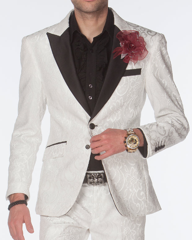 Men's Fashion Suit, White tuxedo - ANGELINO