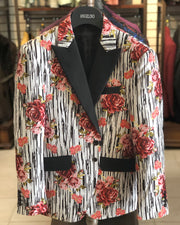 Men's Dinner Blazer - Rose Red - prom - wedding - sport coat - ANGELINO