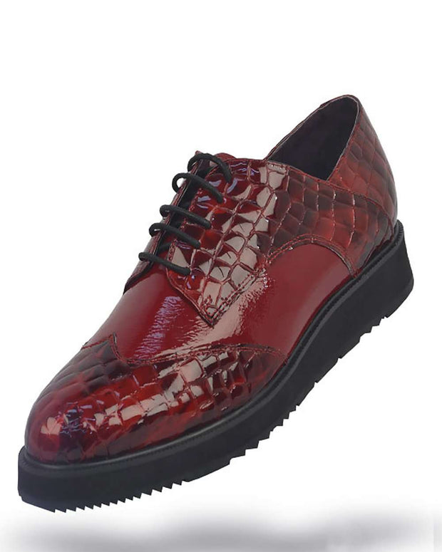 Men's Leather Shoes - Roma Red - ANGELINO