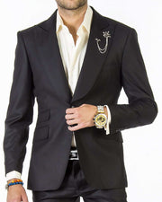 Fashion Suit - Black - Ruf - Wedding - Suits - Men - ANGELINO