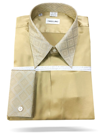 mens gold silk shirt
