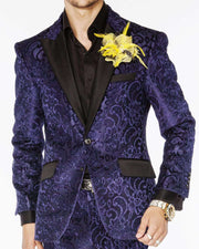 Men's Suits: Salsa Dark Blue - Tuxedo - Prom - Wedding - ANGELINO