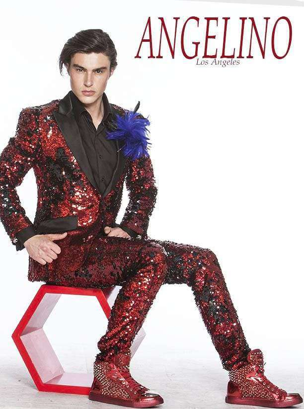 Red Sequin Suits - Prom - 2020 - ANGELINO
