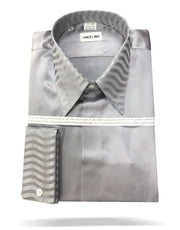 Men's Fashion Silk Shirt 150F Silver