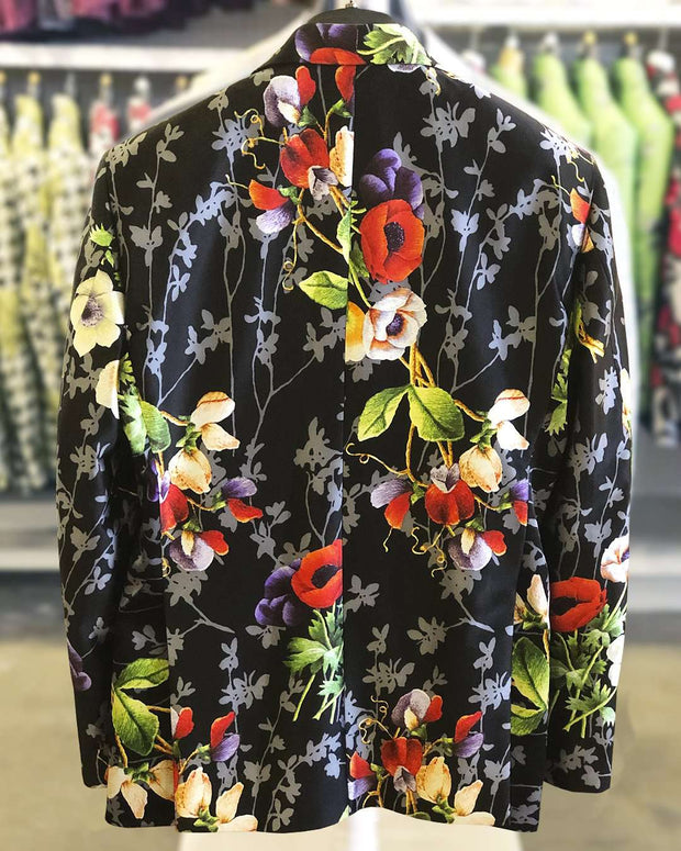 Men's Fashion Silk Blazer Flower bouquet 40L - ANGELINO
