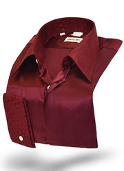 mens burgundy silk shirt