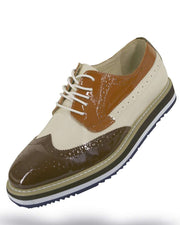 Men's Leather Shoes - Spirit Coffee L. Beige - ANGELINO