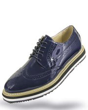 Men's Leather Shoes - Spirit Navy - ANGELINO