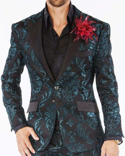 Mens suits, Tango Green - Tuxedo - ANGELINO