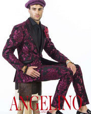 Prom suits, burgundy with black lapel, prom 2020, tuxedo suit