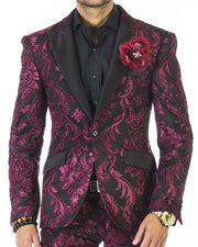 prom suits, tuxedo looking suit with black lapel, prom 2020