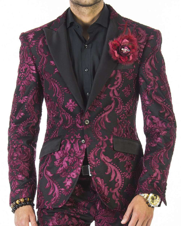 Prom suit, Tuxedo Suit-New Tango Burgundy . - Men - Suits - Wedding - ANGELINO