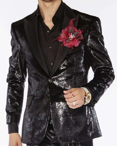 Prom Suit, Tap shiny Black | ANGELINO