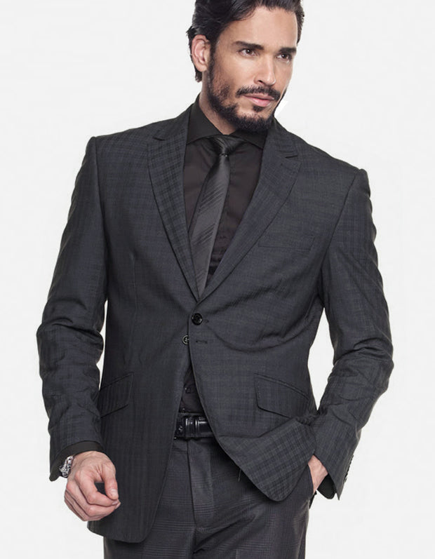 Mens Suits - Plaid Suits - Tom Black - ANGELINO