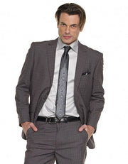Mens Suits - Plaid Suits - Tom Gray - ANGELINO
