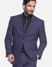Mens Suits - Plaid Suits - Tom Navy - ANGELINO