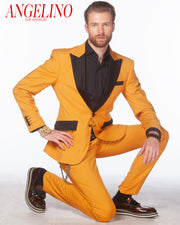 mens classic yellow suit, slim fit gold suit, prom gold suits,