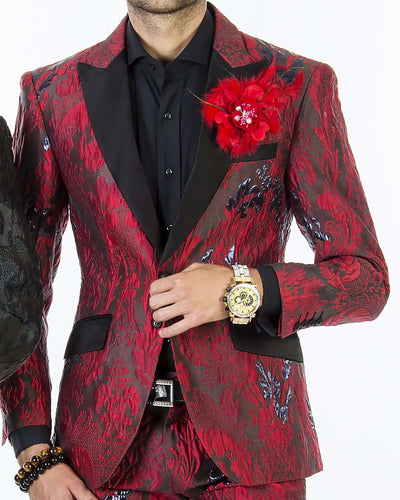 Fashion Suit for men, Tuxedo-V Red - Fashion           - prom - suits - 2020 - ANGELINO