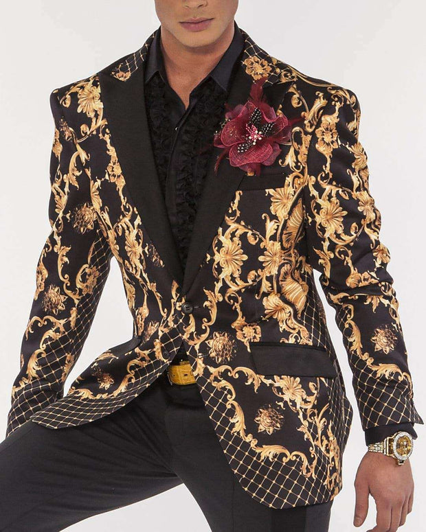 Blazer for men Victorian Print - Dinner Jacket - Tuxedo - Prom - ANGELINO