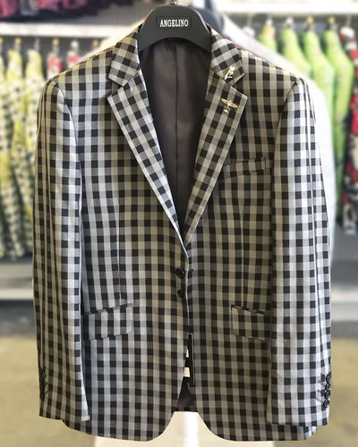 Men's Fashion Blazer Fran Silver #73 - Prom - suits - wedding - ANGELINO