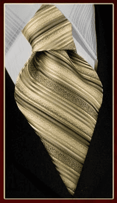 necktie mf371-2, Gold Yellow Black Tie, Striped tie, woven tie,