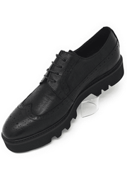 BLACK OXFORD WINGTIP CREEPER