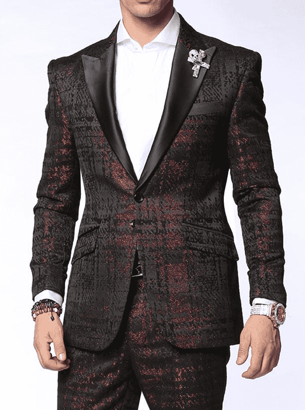 fashion suit rust men