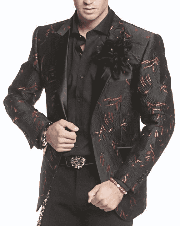 Mens Blazer-Noah Black and red